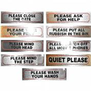 PLEASE SIGNS for home, office or business 17cm X 4cm